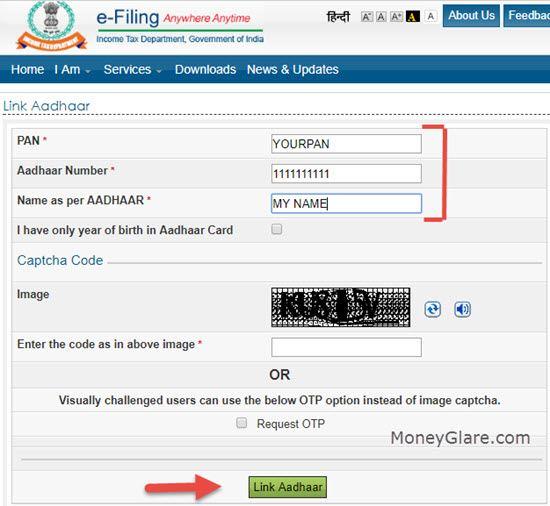 Linking PAN and Aadhaar