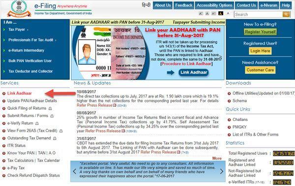 Linking Aadhaar Card and PAN Card