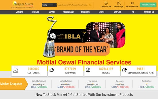 Motilal Oswal Demat and Trading Account in India