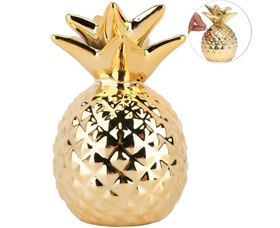 Pineapple Girls Piggy Bank